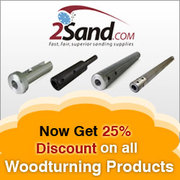 2Sand.com offering 25% Discount on all Woodturning Products