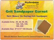 Save Money on Grit Sandpaper Garnet