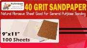 Lowest Price on 40 Grit Sandpaper
