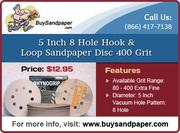 Great Deal on 5 Inch 8 Hole Hook & Loop Sandpaper Discs